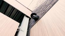 BEwakingscamera bij toegangspoort